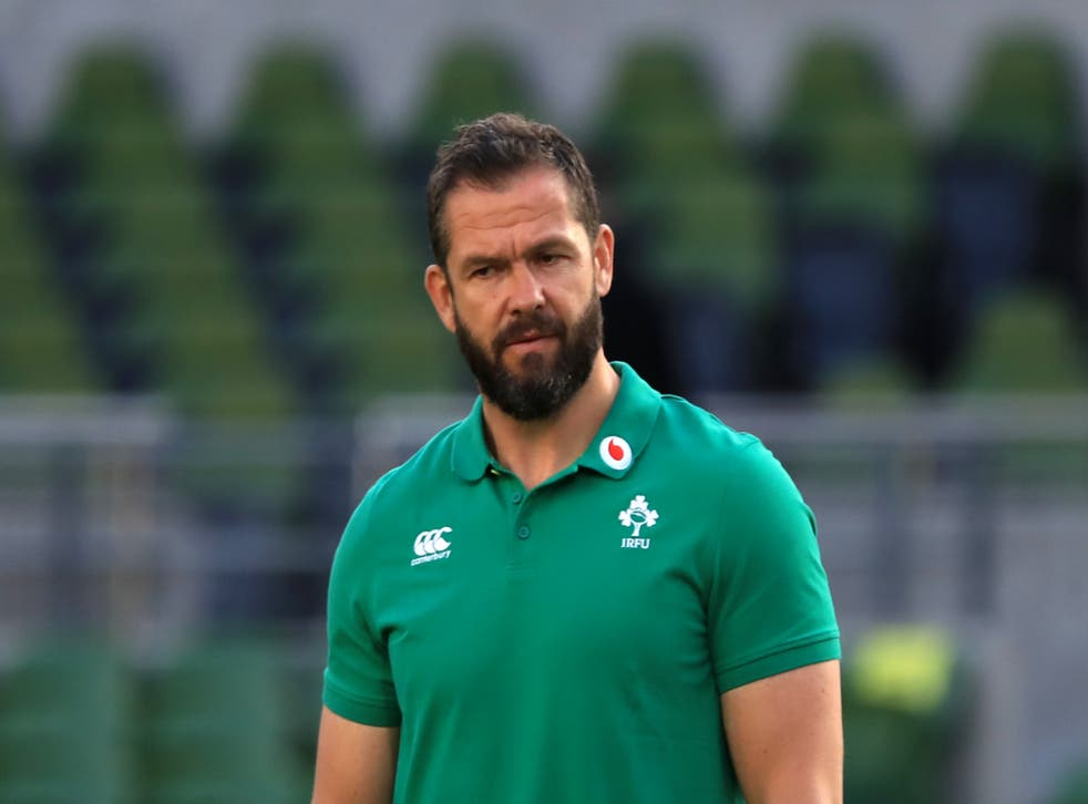 Andy Farrell's Ireland were due to begin their autumn campaign in Las Vegas (Donall Farmer/PA)