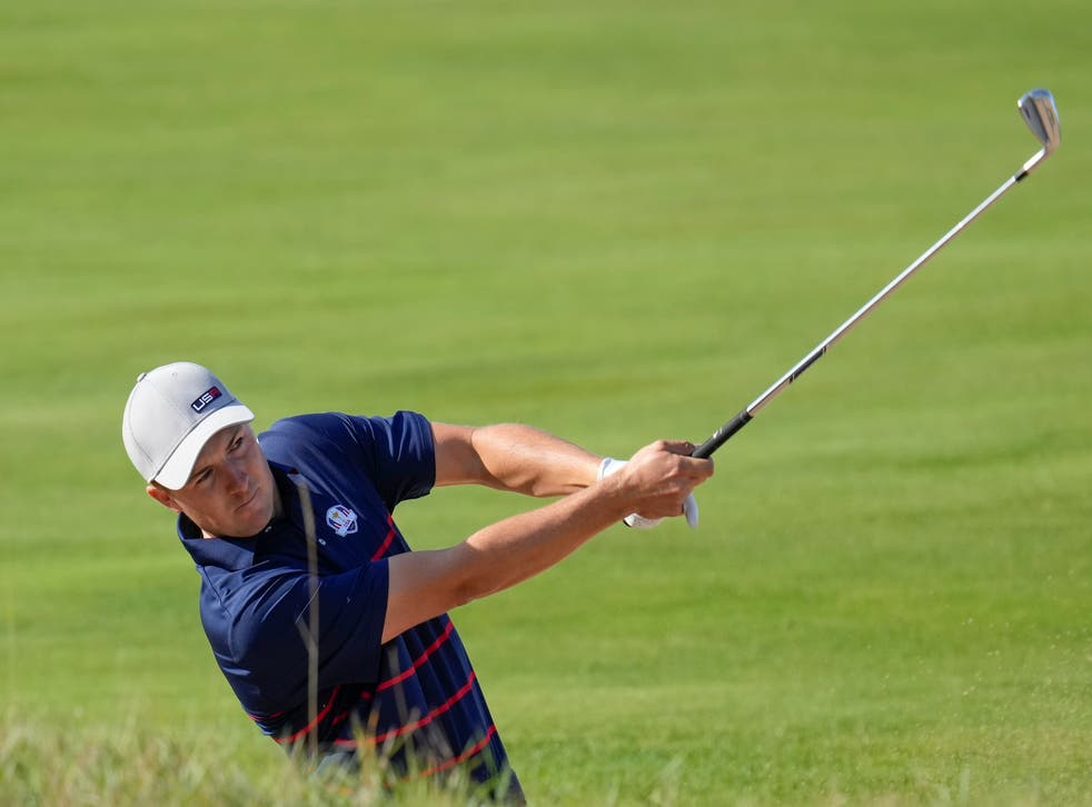 Jordan Spieth produced some magic at the Ryder Cup – and almost got wet for his trouble (Ashley Landis/AP/Press Association Images)