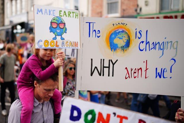 <p>Huelga mundial de jóvenes por el clima. </p>