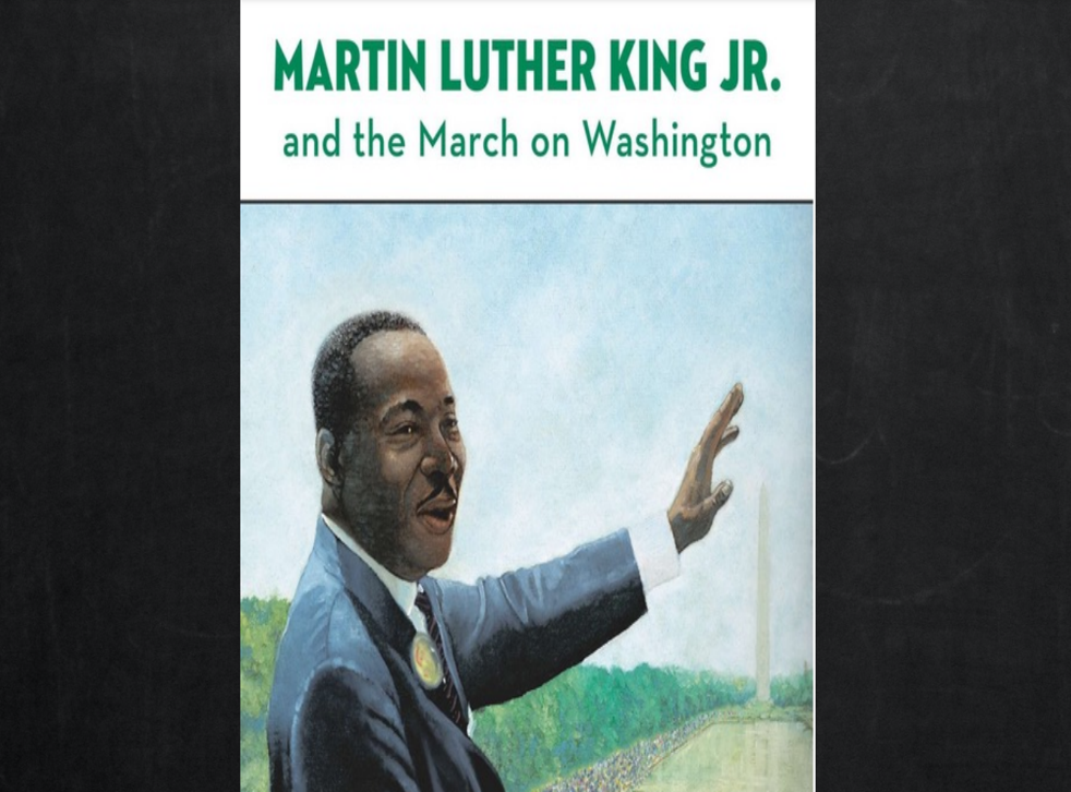 <p>A book about Martin Luther King criticised by the activists </p>
