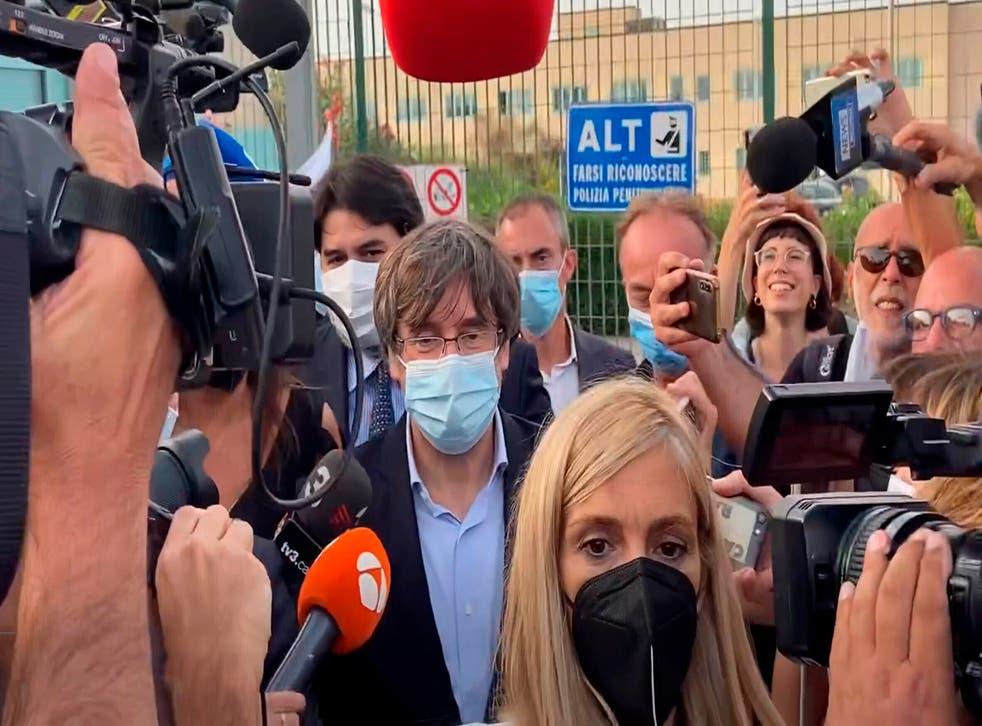 APTOPIX Italy Spain Puigdemont