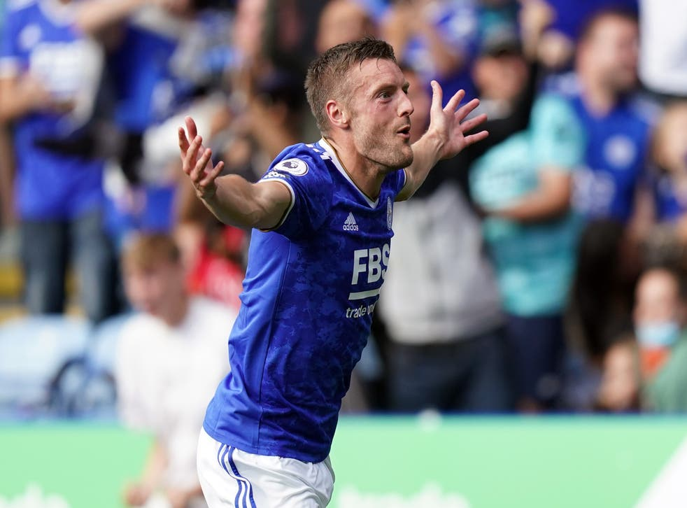 Jamie Vardy has five goals this season after his brace against Burnley (Mike Egerton/PA)