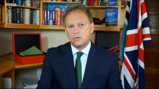 <p>Mr Shapps was speaking on the BBC's 'Andrew Marr Show' </p>