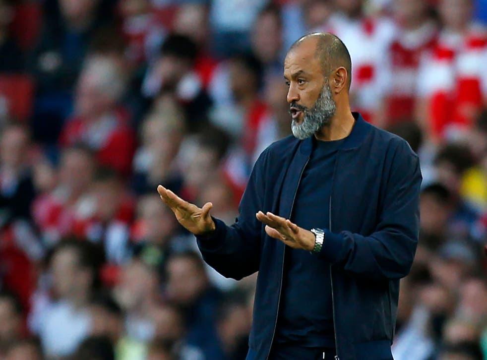 <p>Nuno Espirito Santo watched Tottenham capitulate</p>