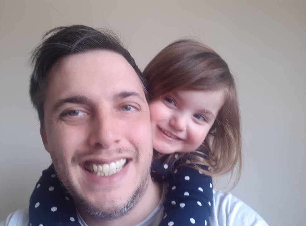 <p>Anthony Lyman, pictured with his four-year-old daughter, says he is already struggling financially </p>