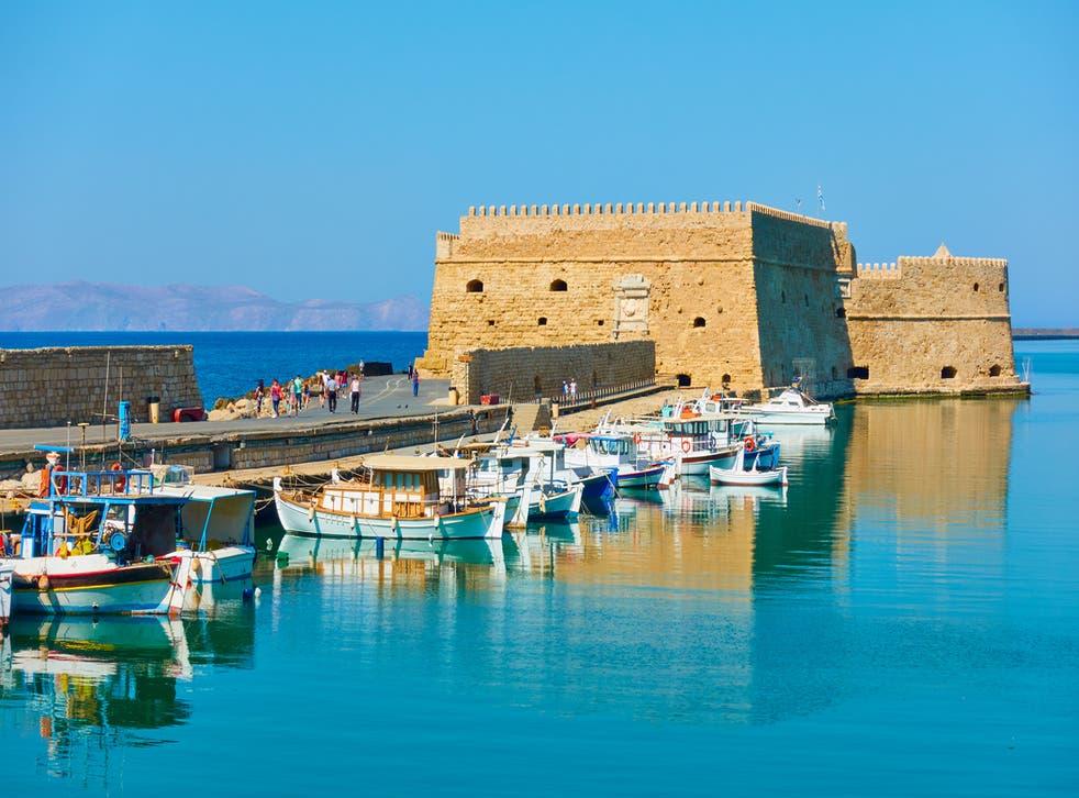 <p>Old Venetian fortress in Heraklion, Crete</p>