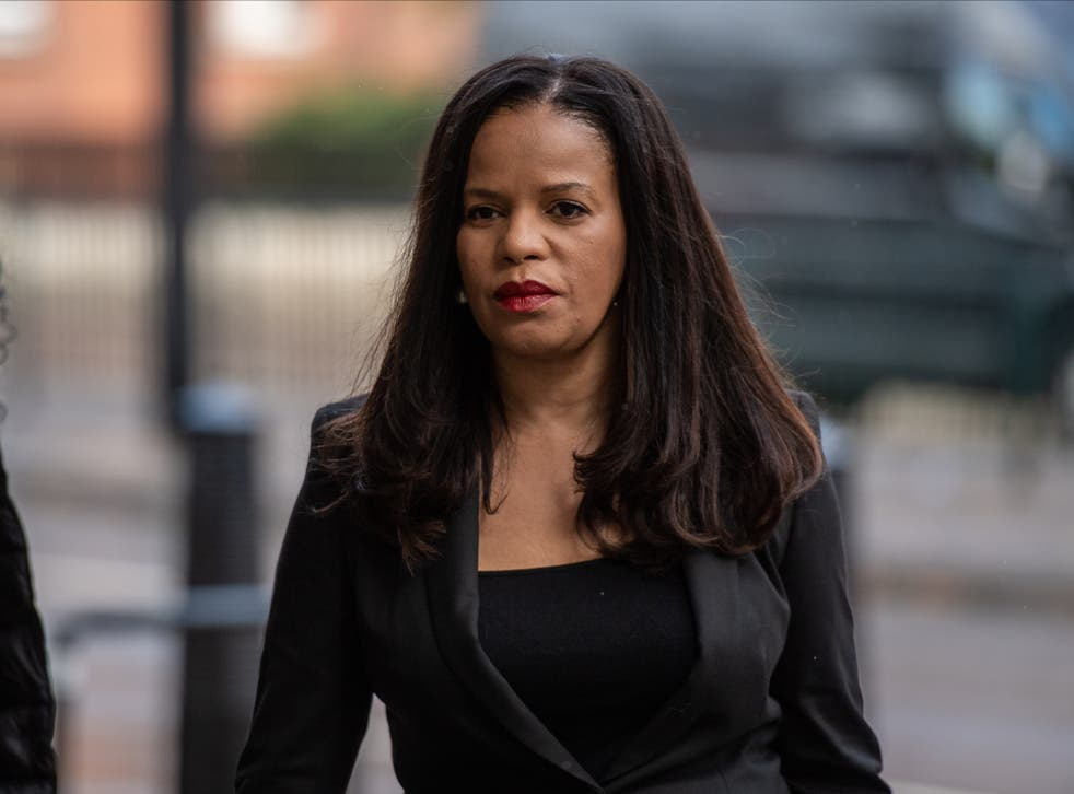 <p>Claudia Webbe arrives at The City of Westminster Magistrates Court </p>