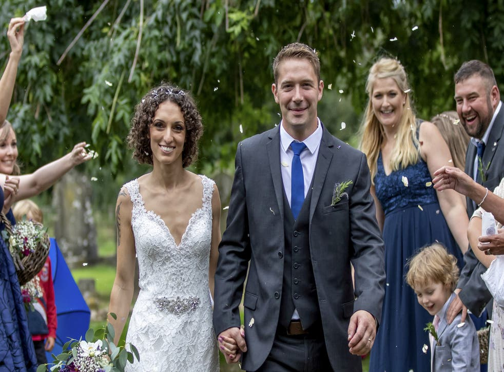 <p>Alex Lilley and Dan Lilley who live in Harby, Nottinghamshirecreated their dream wedding with 130 guests for just £4,000</p>