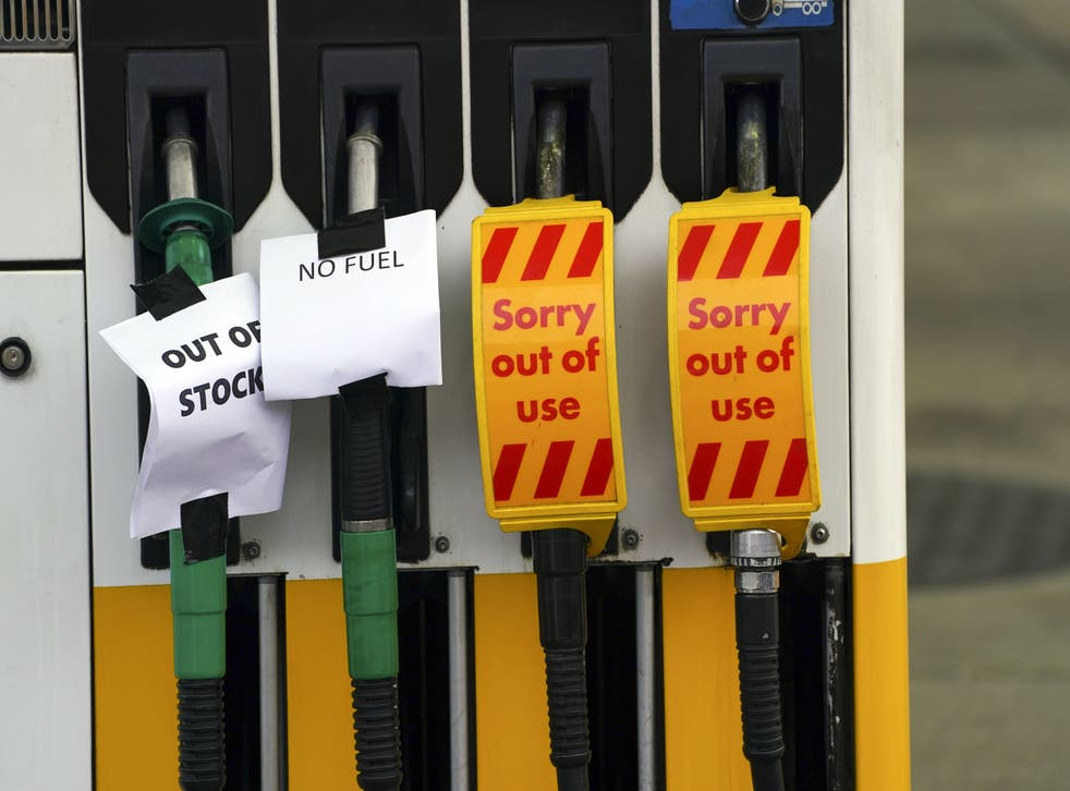 <p>The Petrol Retailers Association (PRA) reported that up to 90 per cent of its independent members were out of fuel in some areas, after oil giantBPsaid one-third of its sites had no supplies</p>