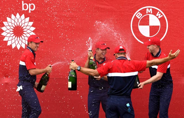 Team USA won the Ryder Cup on Sunday (Anthony Behar/PA)
