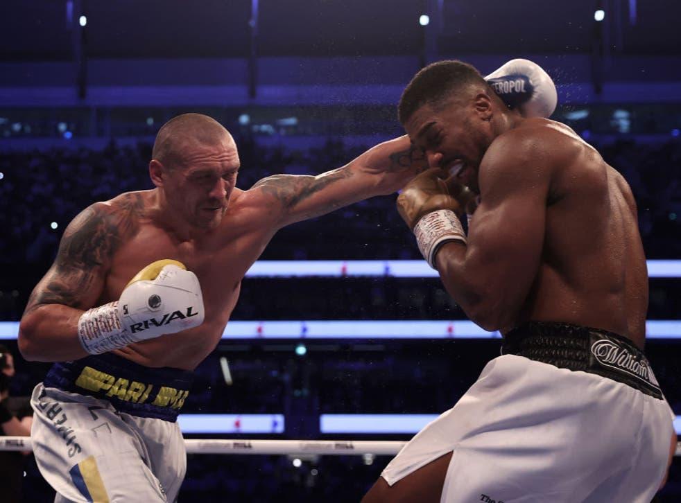 <p>Usyk comfortably beat Joshua in London on Saturday night</p>