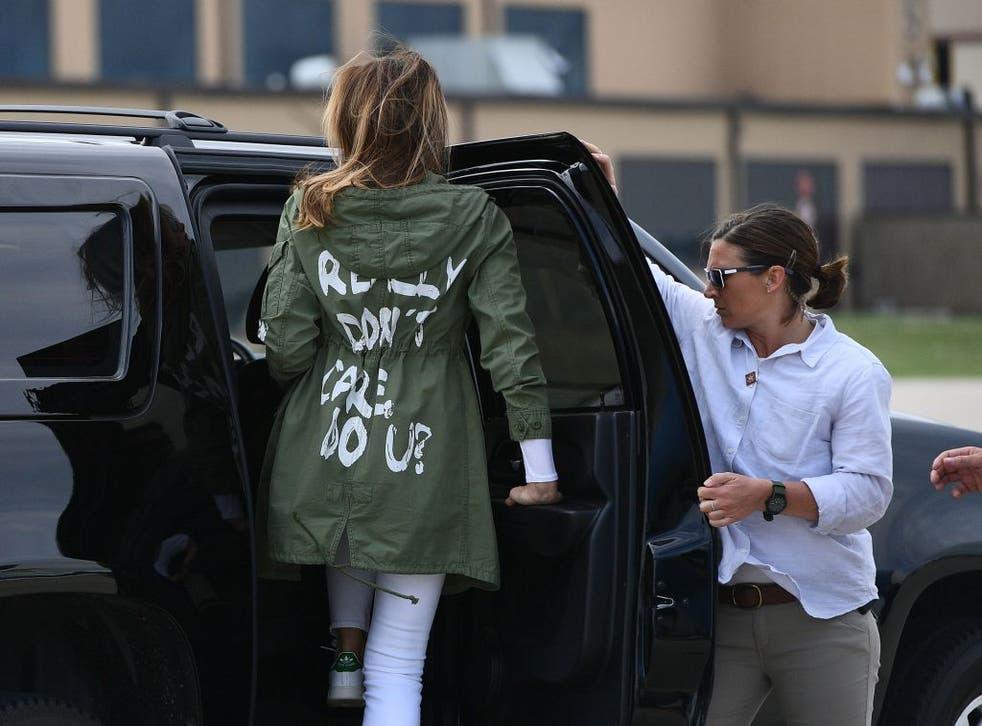 <p>Former first lady Melania Trump</p>