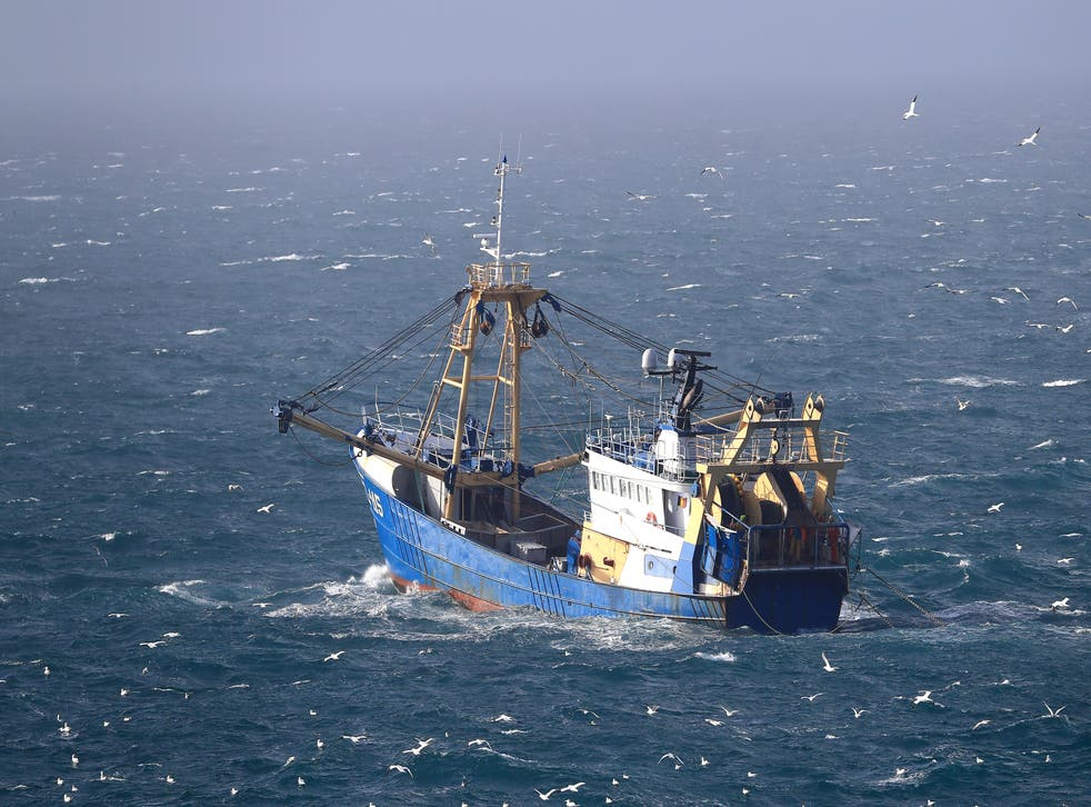 <p>A fishing boat at work in the English Channel (Gareth Fuller/PA)</p>