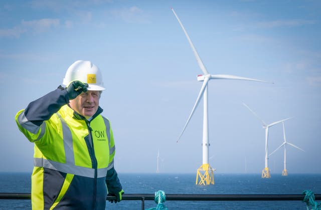 <p>Growth of renewable power capacity in the UK has fallen consistently under Boris Johnson</p>