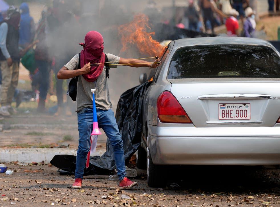APTOPIX Paraguay Indigenous Protest