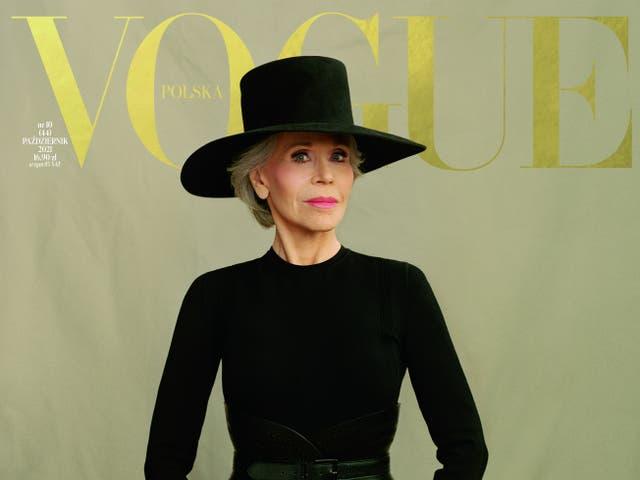 <p>Jane Fonda covers Vogue Poland</p>