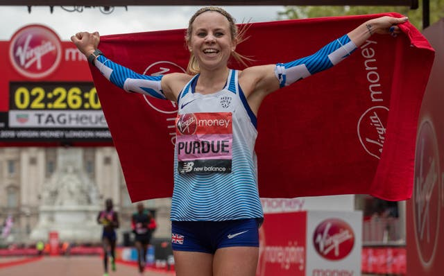 Charlotte Purdue wants to bounce back from the disappointment on missing out of the Olympics at the Virgin Money London Marathon on Sunday (Eddie Keogh/London Marathon/PA)