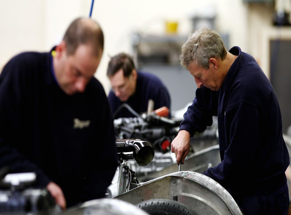 Labour and material shortages weighed on the UK manufacturing sector (David Davies/PA)