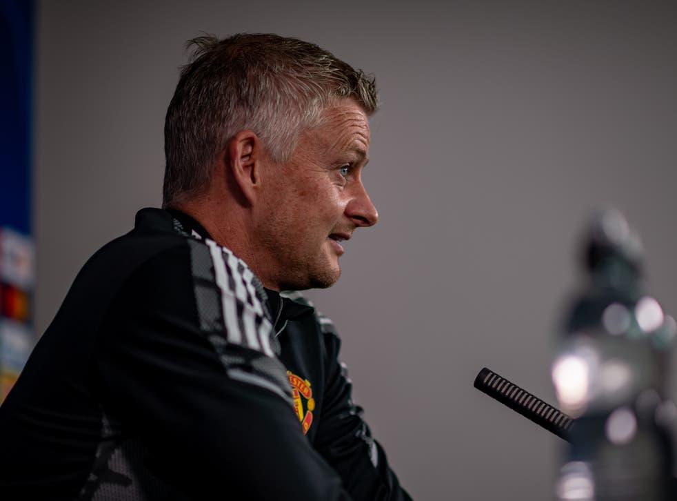 <p>Manchester United coach Ole Gunnar Solskjaer</p>