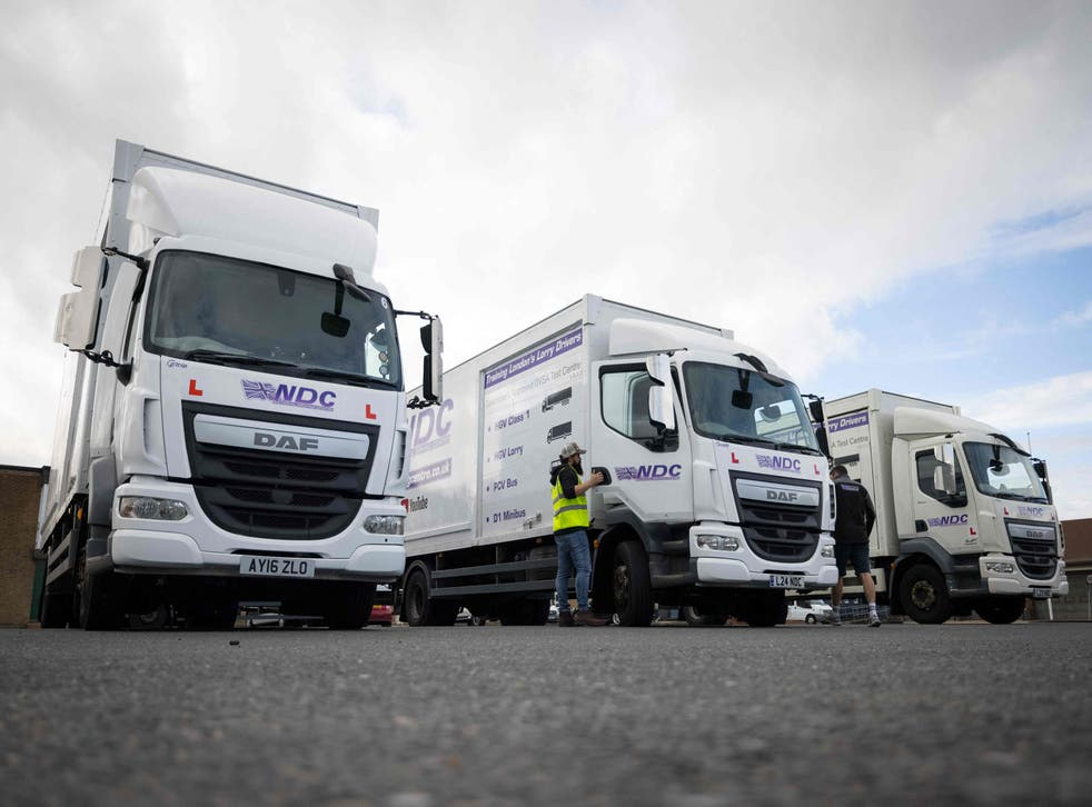 <p>Migrants who have overstayed their visas have been asked to 'consider returning' to work in the HGV sector</p>