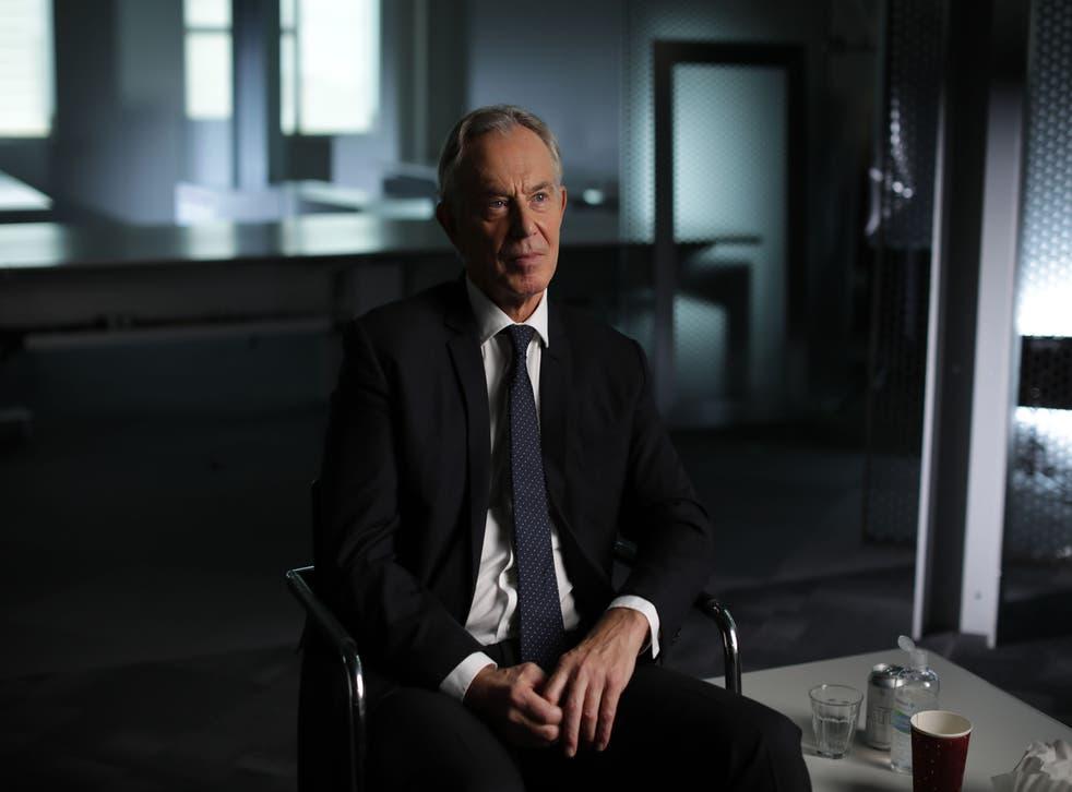 <p>Tony Blair in the BBC series 'The New Labour Revolution' </p>