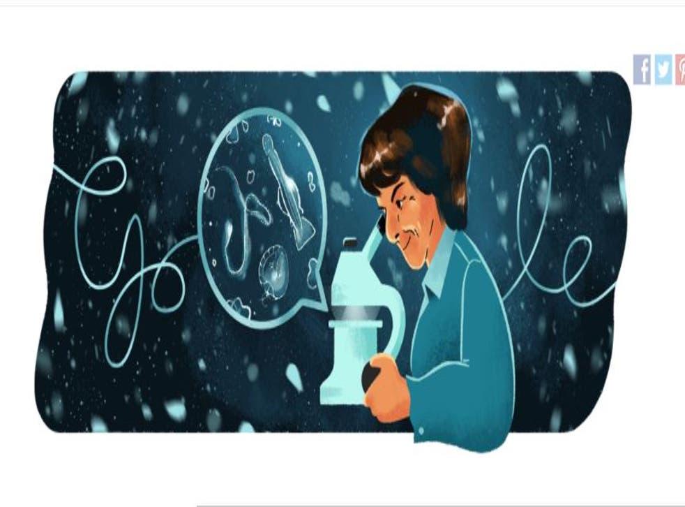 <p>Google Doodle on 3 October celebrates the 105th birthday of Dr. María de los Ángeles Alvariño González</p>