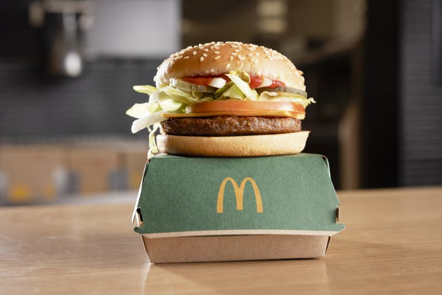 McDonald's launched its first plant-based burger earlier this year (McDonald's/PA) (McDonald's/PA)