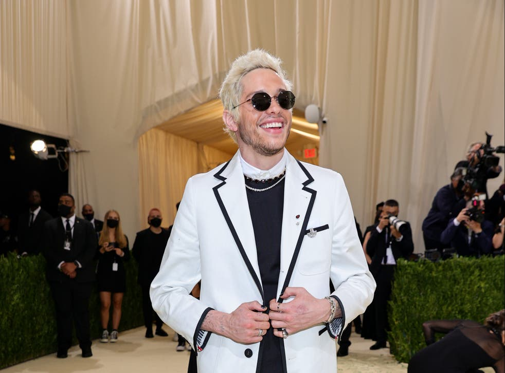 <p>Pete Davidson reflects on Met Gala outfit</p>