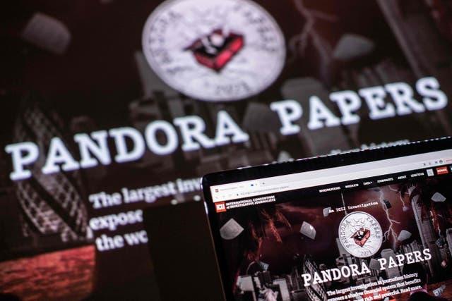 El logo de Pandora Papers
