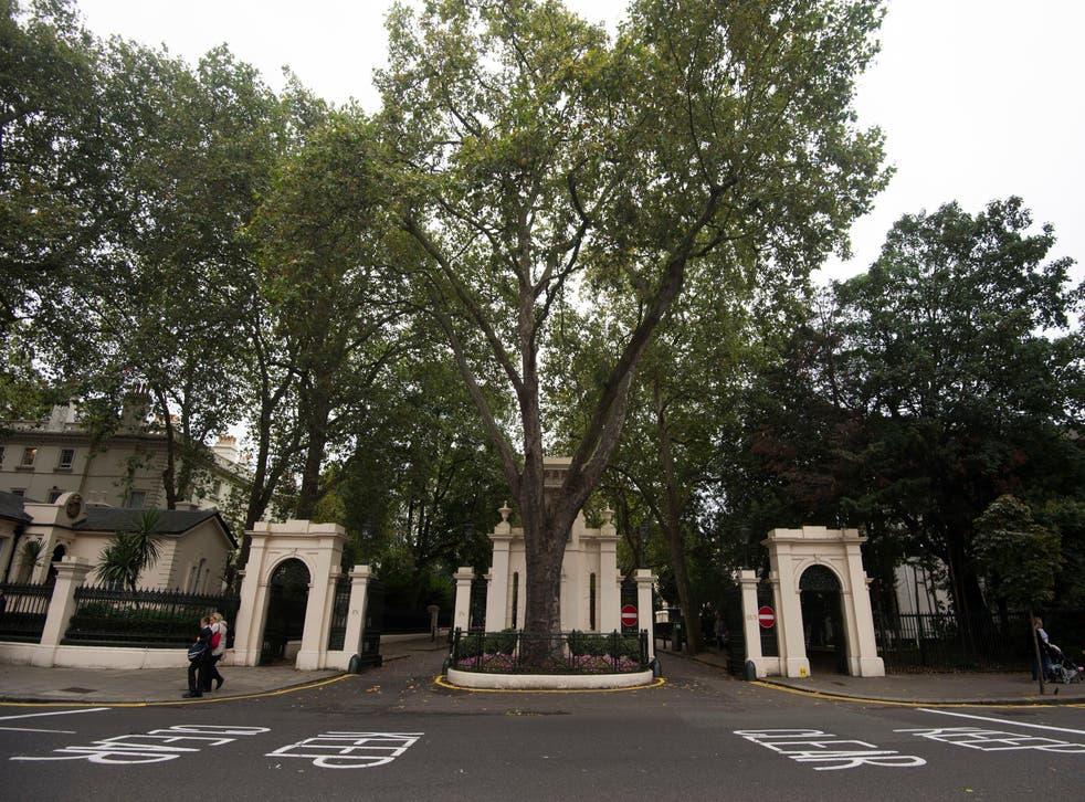 The entrance to Kensington Palace Gardens (Hannah McKay/PA)