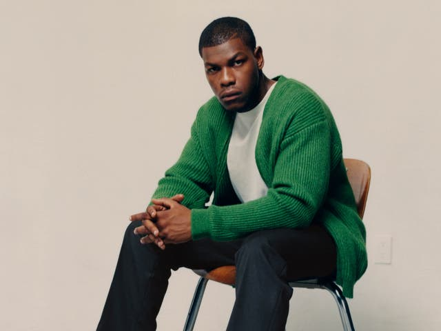 <p>John Boyega models his new collection for H&M</p>