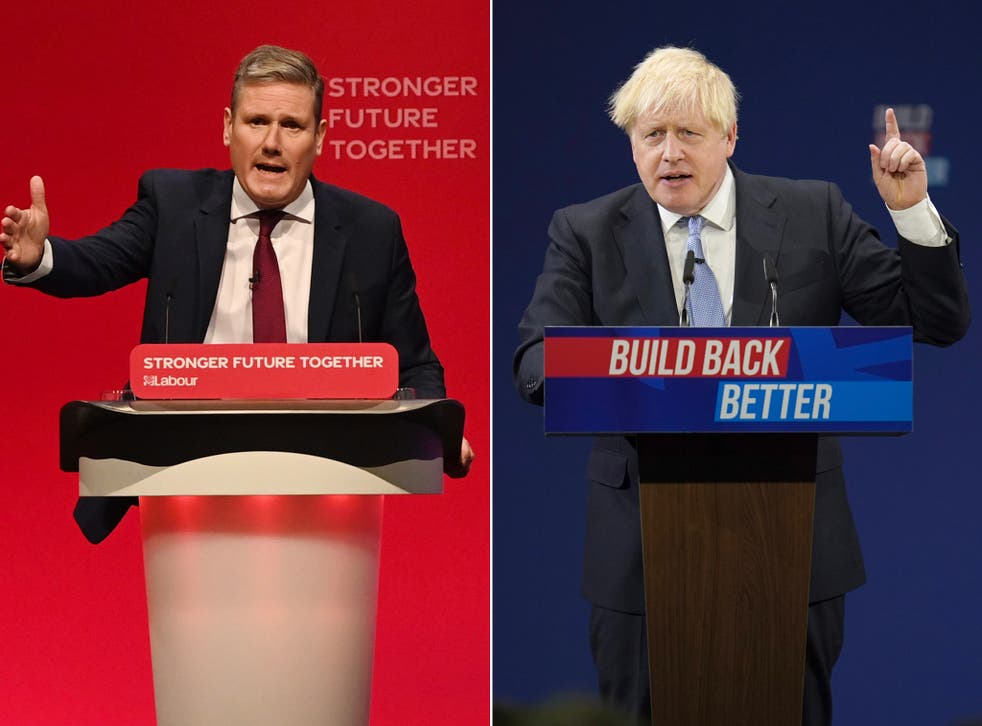 <p>Voters preferred Starmer's conference speech to Johnson's </p>