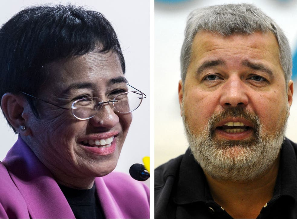 <p>Journalists Dmitry Muratov and Maria Ressa have been awarded the Nobel Peace Prize 2021</p>