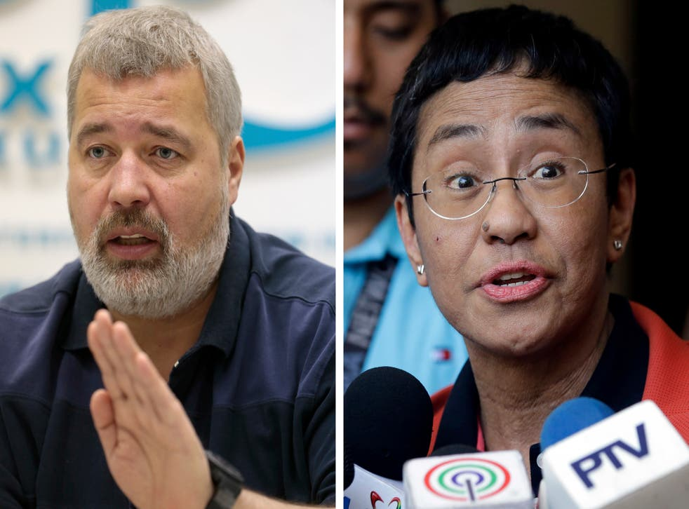 <p>Dmitry Muratov and Maria Ressa have set a formidable example in journalism</p>