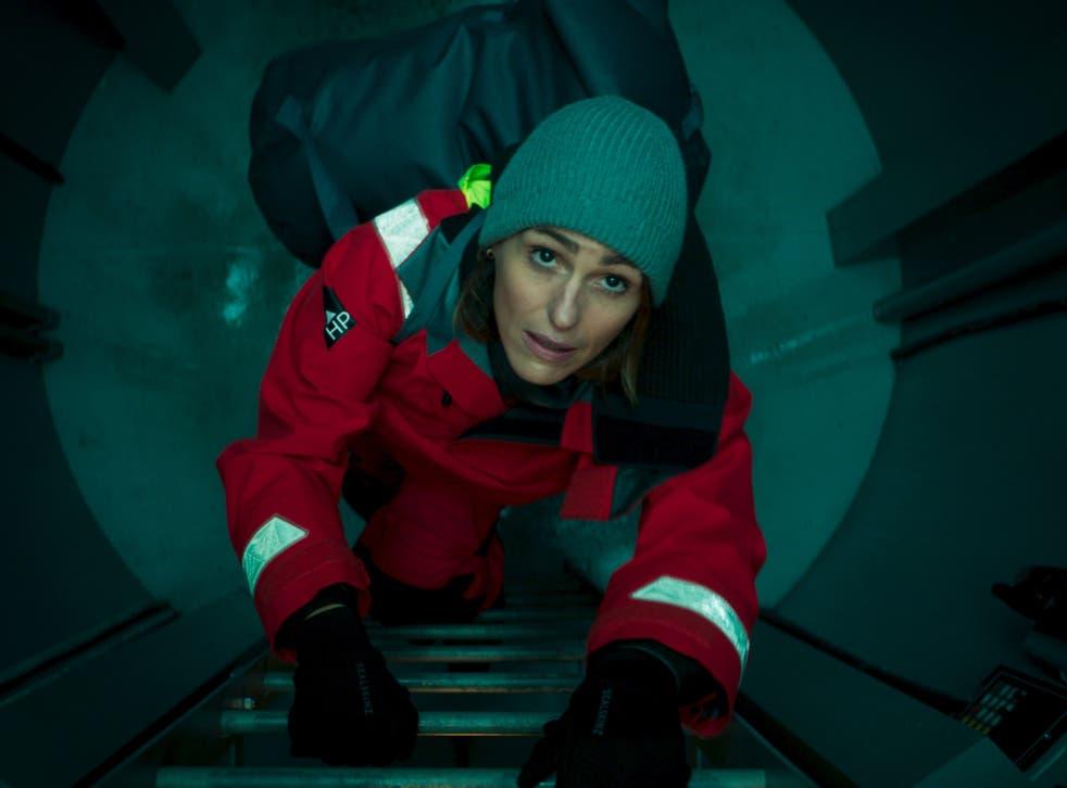 <p>Brine of duty: Suranne Jones in the Jed Mercurio-esque thriller 'Vigil'</p>