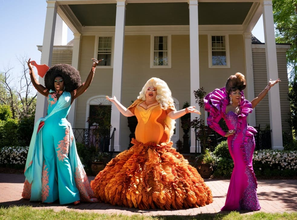 <p>From L-R: Bob the Drag Queen, Eureka and Shangela</p>