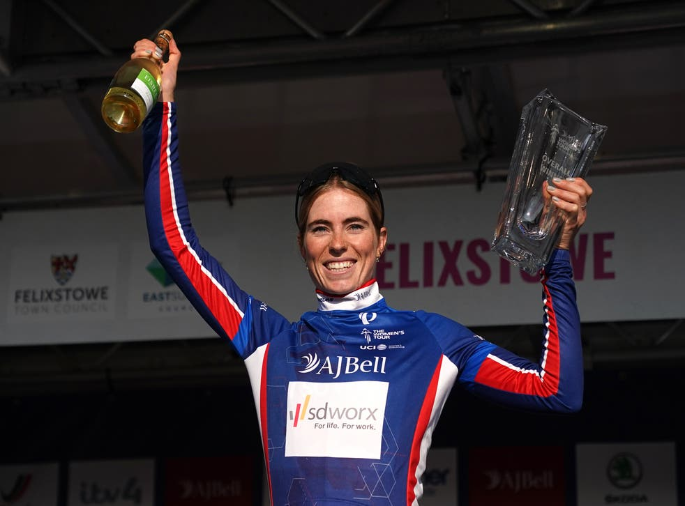 Demi Vollering stayed out of trouble on the final stage to claim overall victory (Adam Davy/PA)
