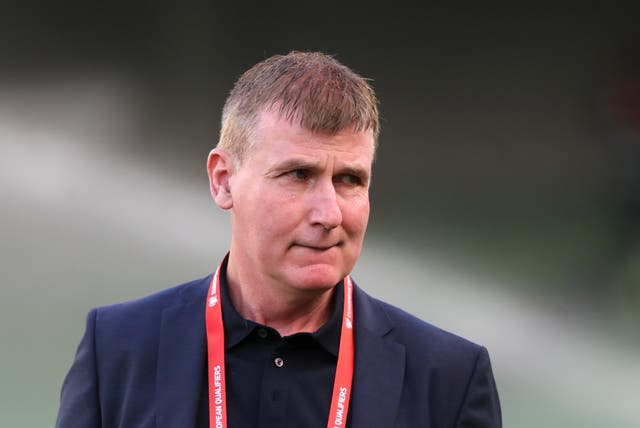 Republic of Ireland manager Stephen Kenny tasted competitive victory in Azerbaijan for the first time at the 13th attempt (Liam McBurney/PA)