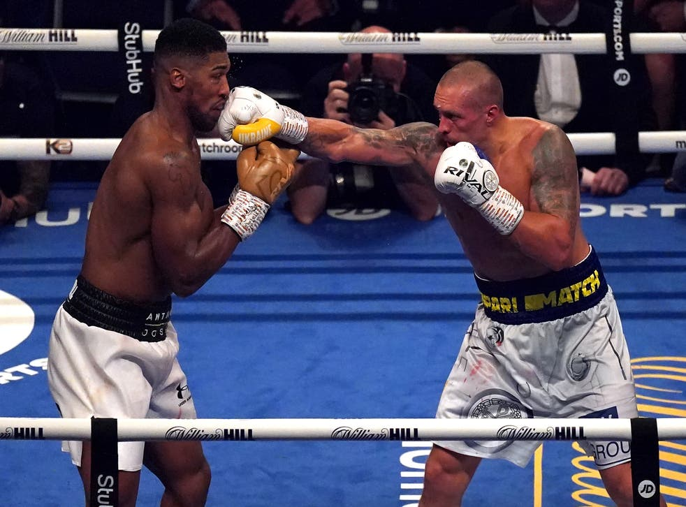 <p>British heavyweight Anthony Joshua (left) was outclassed by Oleksandr Usyk </p>