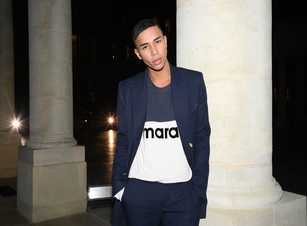 <p>Olivier Rousteing attends the Isabel Marant Womenswear Spring/Summer 2021 show as part of Paris Fashion Week on October 01, 2020</p>