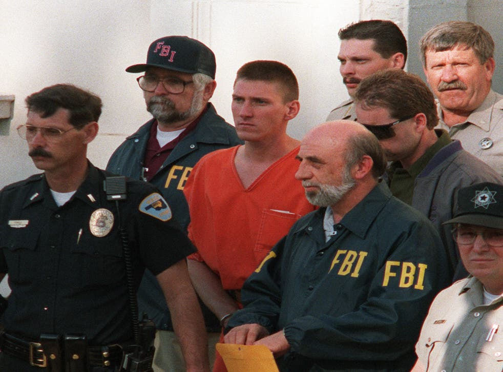 <p>Timothy McVeigh was found guilty of the 1995 Oklahoma City Bombing and sentenced to death</p>