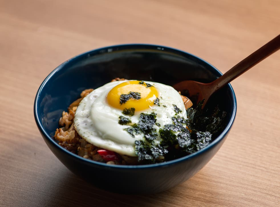 <p>Gyeran bap is a lifesaving Korean pantry meal of fried eggs stirred into steamed white rice</p>