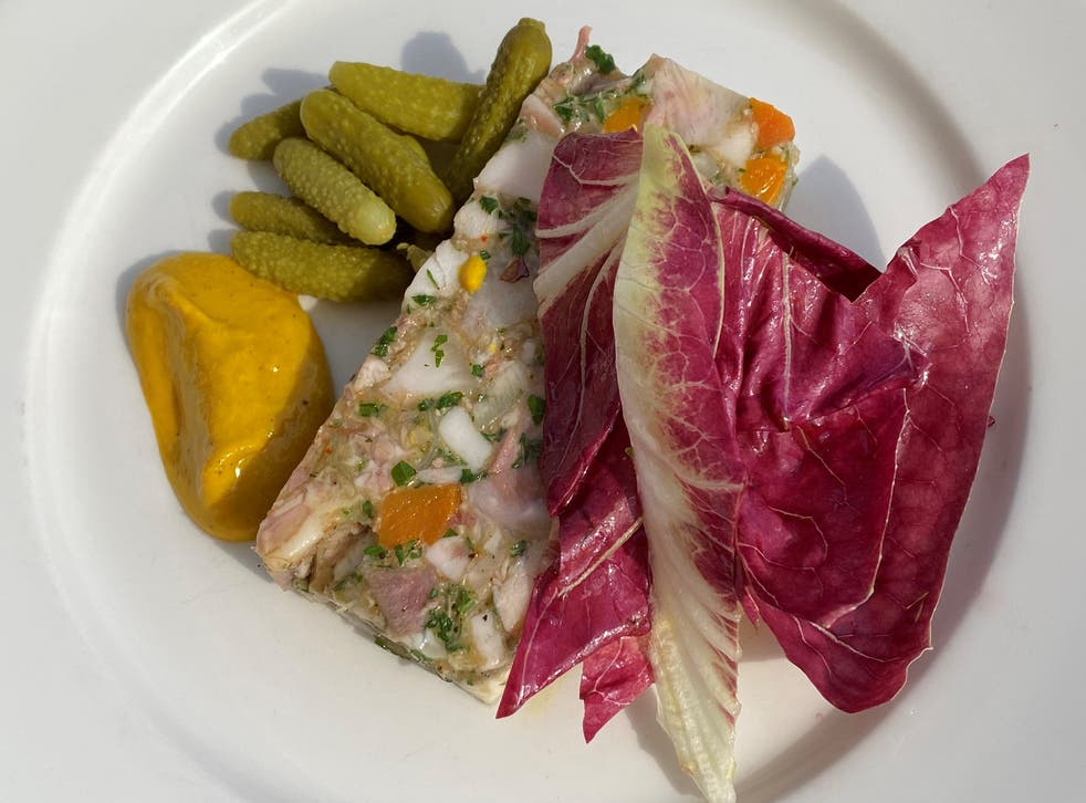 <p>Pigs head terrine is chunky, gelatinous, a little gristly in parts but ultimately harmonious</p>