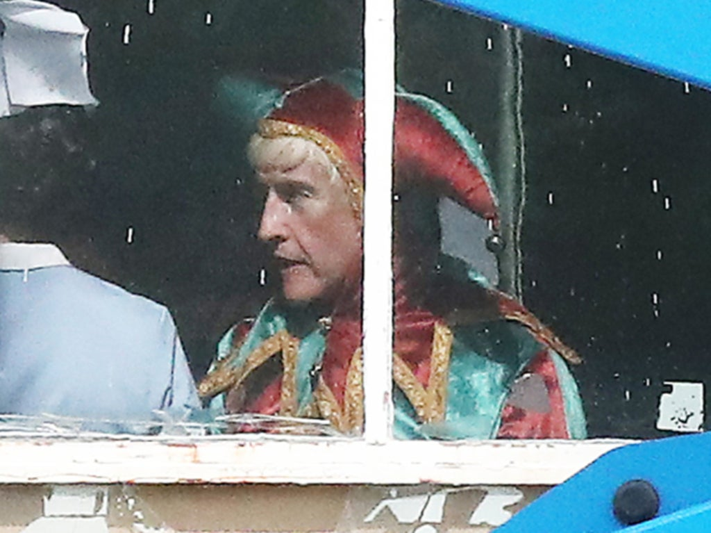 Steve Coogan pictured as Jimmy Savile during filming for upcoming series