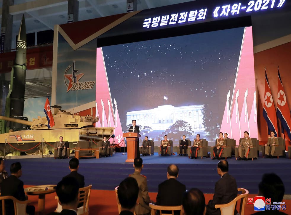 <p>North Korea's leader Kim Jong Un slammed US and South Korea in a speech during the 76th anniversary of ruling party </p>