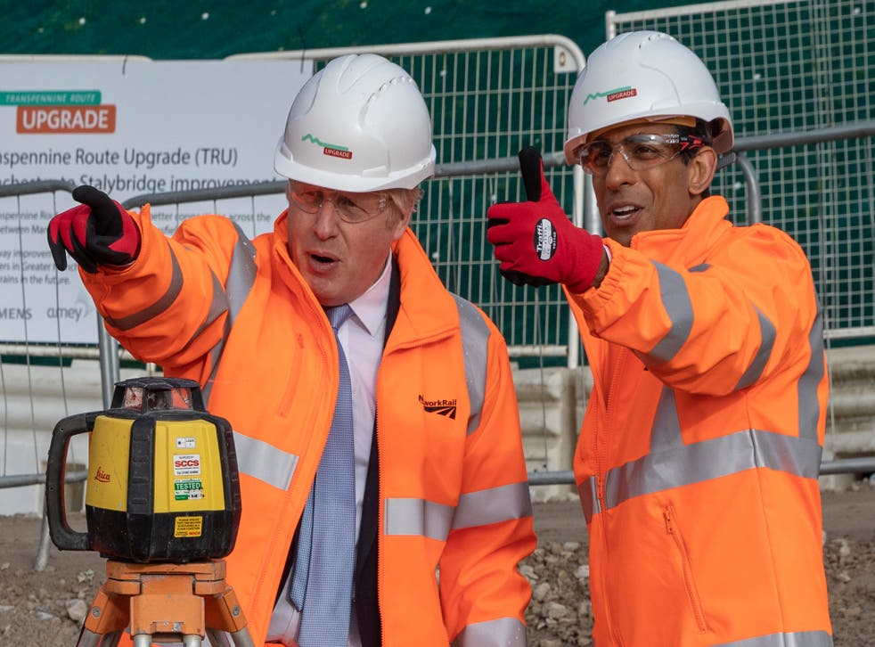 <p>Boris Johnson has reportedly backed a bailout for energy-intensive industries, with chancellor Rishi Sunak under pressure to do the same </p>