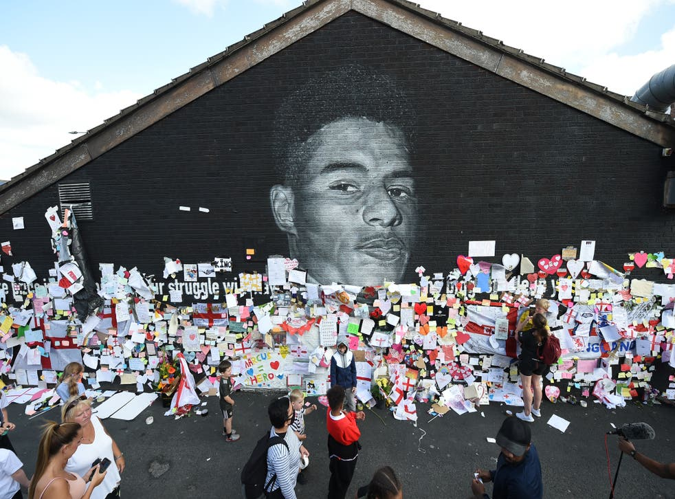 <p>The 23-year-old footballers mural in   Withington, South Manchester can now be viewed on Google Street View. </p>