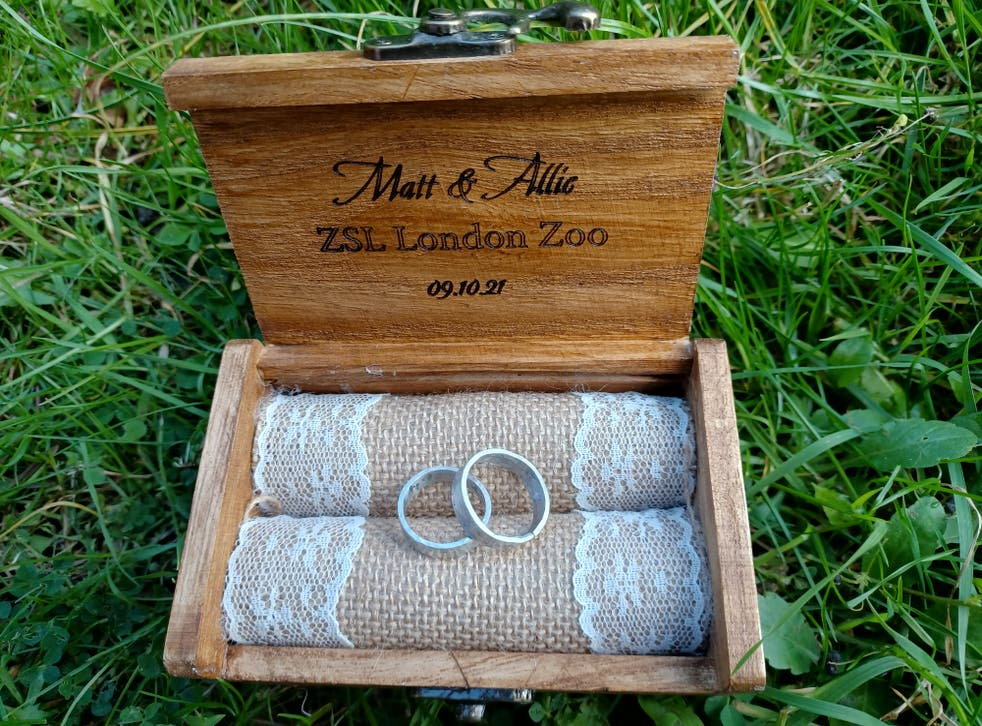 The rings the pair exchanged were made from the zoo's own materials (Zoological Society of London)