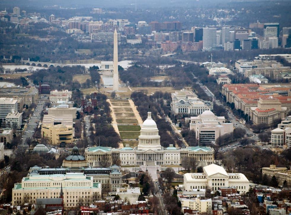 <p>The downtown area of Washington DC</p>