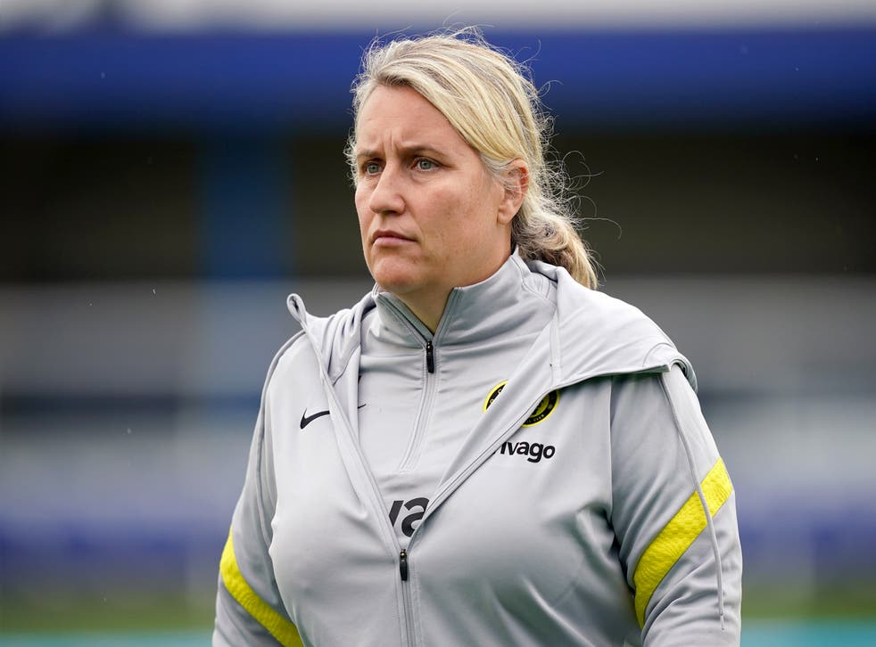 Chelsea Women manager Emma Hayes expects a 'tense atmosphere' in Turin (Yui Mok/PA).